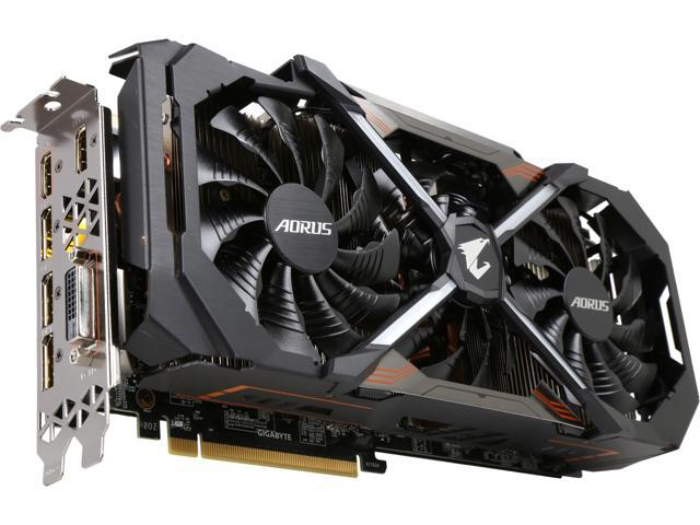 GIGABYTE AORUS GeForce GTX 1080 Ti DirectX 12 GV-N108TAORUS-11GD 11GB 352-Bit GDDR5X PCI Express 3.0 x16 SLI Support ATX Video Card
