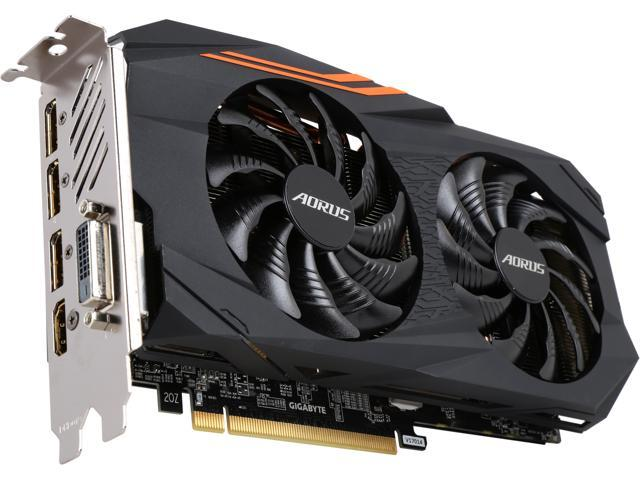 GIGABYTE AORUS Radeon RX 570 DirectX 12 GV-RX570AORUS-4GD 4GB 256-Bit GDDR5 PCI Express 3.0 x16 CrossFireX Support ATX Video Card