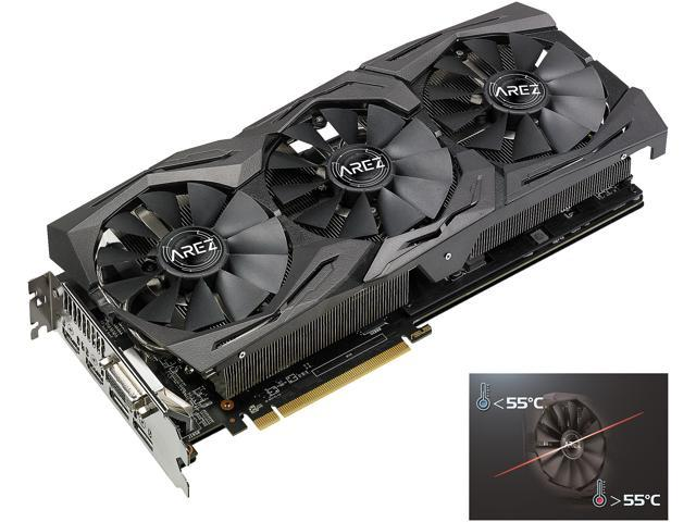 ASUS AREZ Strix Radeon RX 580 8GB 256-Bit GDDR5 Video Card