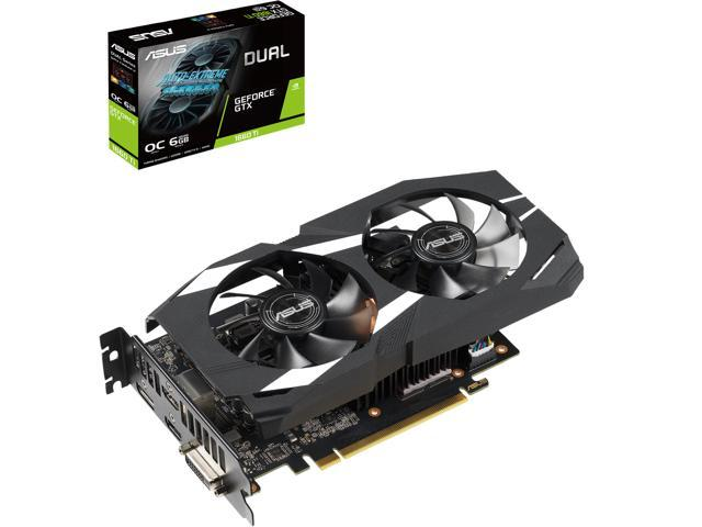 ASUS Dual GeForce GTX 1660 Ti DUAL-GTX1660TI-O6G 6GB 192-Bit GDDR6 PCI Express 3.0 HDCP Ready Video Card