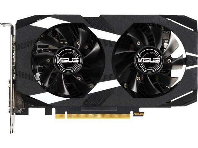 Image result for ASUS GeForce GTX 1650 Overclocked 4GB Dual-Fan Edition VR Ready HDMI DP 1.4 DVI Graphics Card (Dual-GTX1650-O4G)
