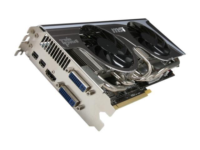 MSI Radeon HD 6950 DirectX 11 R6950 Twin Frozr II 2GB 256-Bit GDDR5 PCI Express 2.1 x16 HDCP Ready CrossFireX Support Video Card with Eyefinity