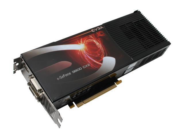 EVGA GeForce 9800 GX2 DirectX 10 01G P3 N891 AR 1GB 512MB