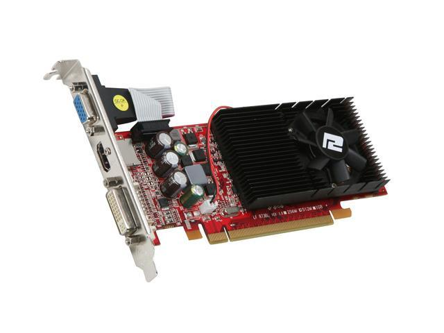 PowerColor Radeon HD 4650 DirectX 10.1 AX4650 512MD2-LH 512MB 128-Bit GDDR2 PCI Express 2.0 x16 CrossFireX Support Low Profile Ready Video Card