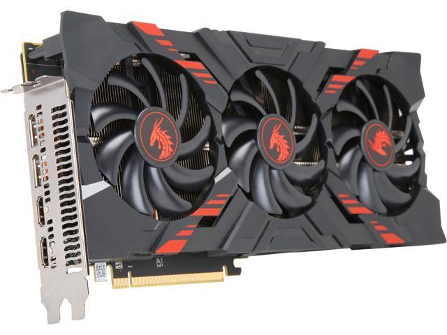 PowerColor RED DRAGON Radeon RX Vega 56 DirectX 12 AXRX VEGA 56 8GBHBM2-2D2HD/OC 8GB 2048-Bit HBM2 PCI Express 3.0 CrossFireX Support ATX Video Card