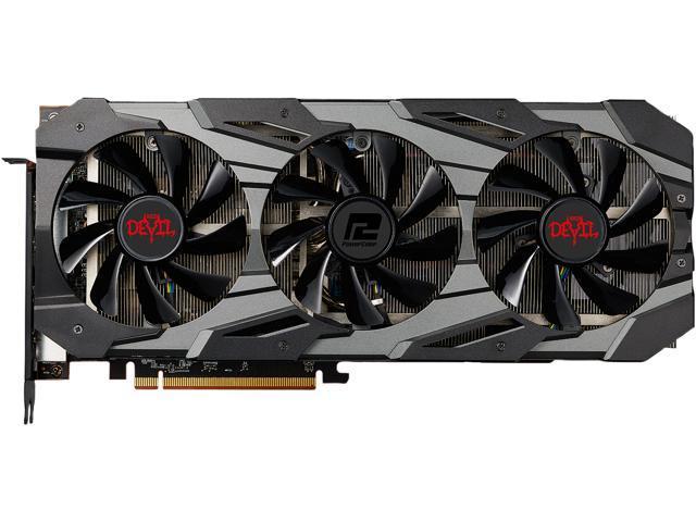PowerColor RED DEVIL Radeon RX 5700 DirectX 12 AXRX 5700 8GBD6-3DHE/OC 8GB  256-Bit GDDR6 PCI Express 4.0 CrossFireX Support ATX Video Card