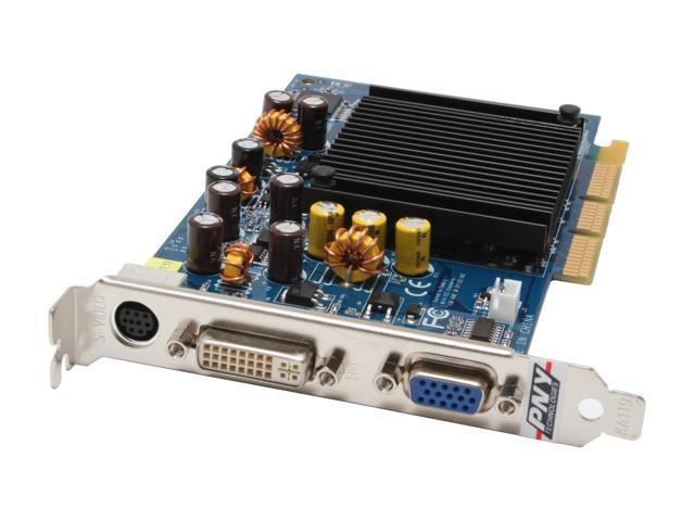 PNY GeForce 6200 DirectX 9 VCG62256APB 256MB 64 Bit GDDR2 AGP 4X 8X Video
