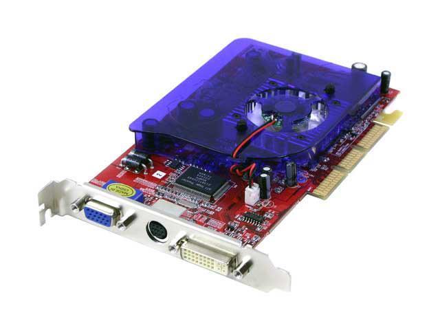 ECS Radeon 9200 DirectX 8 R9200 128DV 128MB 128 Bit DDR AGP 4X