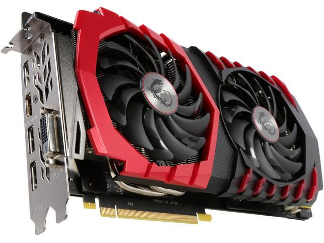 MSI GeForce GTX 1060 DirectX 12 GeForce GTX 1060 GAMING 6G 6GB 192-Bit GDDR5 PCI Express 3.0 x16 HDCP Ready ATX Video Card