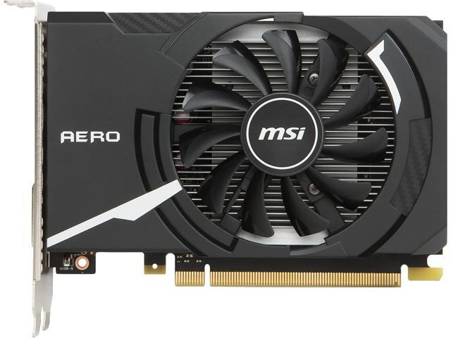 MSI GeForce GT 1030 DirectX 12 GT 1030 AERO ITX 2G OC 2GB 64-Bit GDDR5 PCI Express 3.0 x16 (uses x4) HDCP Ready ATX Video Card