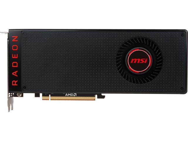 MSI Black Radeon RX Vega 64 DirectX 12 RADEON RX VEGA 64 8G Video Card -  Black Fan - Newegg com