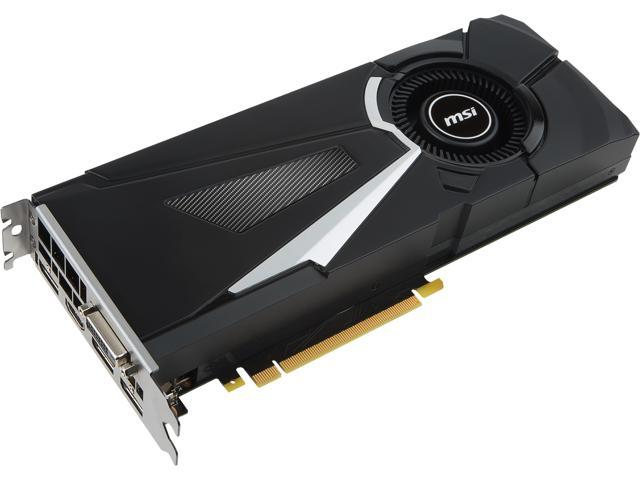 MSI GeForce GTX 1070 Ti DirectX 12 GTX 1070 Ti AERO 8G 8GB 256-Bit GDDR5 PCI Express 3.0 x16 HDCP Ready SLI Support ATX Video Card