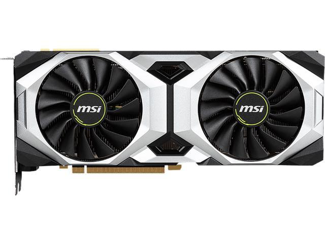 MSI GeForce RTX 2080 Ti DirectX 12 RTX 2080 Ti VENTUS GP 11GB 352-Bit GDDR6 PCI Express 3.0 x16 HDCP Ready SLI Support Video Card