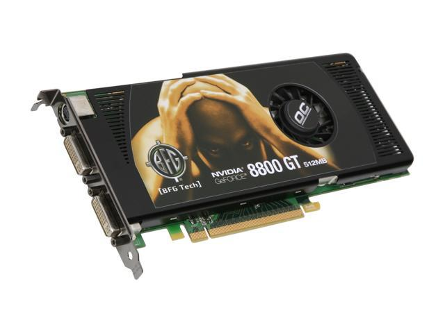 BFG Tech GeForce 8800 GT DirectX 10 BFGE88512GTOCE 512MB 256 Bit GDDR3 PCI Express 20