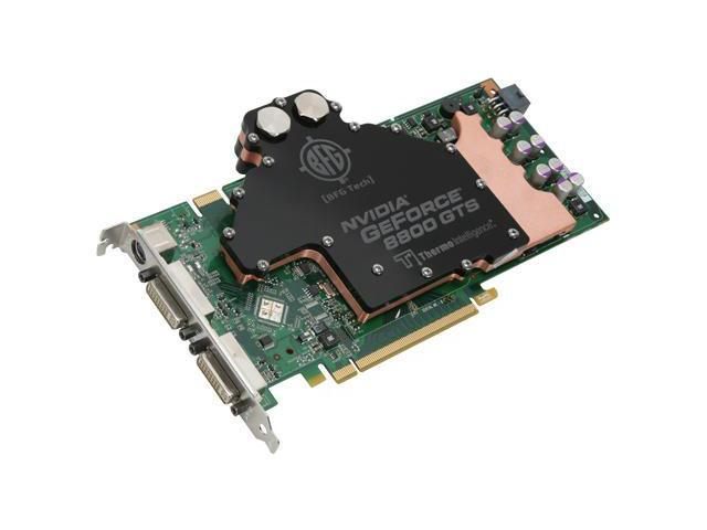 BFG Tech GeForce 8800GTS G92 DirectX 10 BFGE88512GTSOC2WCE 512MB 256 Bit GDDR3 PCI