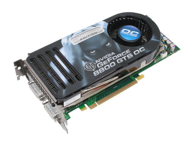 BFG Tech GeForce 8800 GTS DirectX 10 BFGR88640GTSEEOCE 640MB 320 Bit GDDR3 PCI Express X16