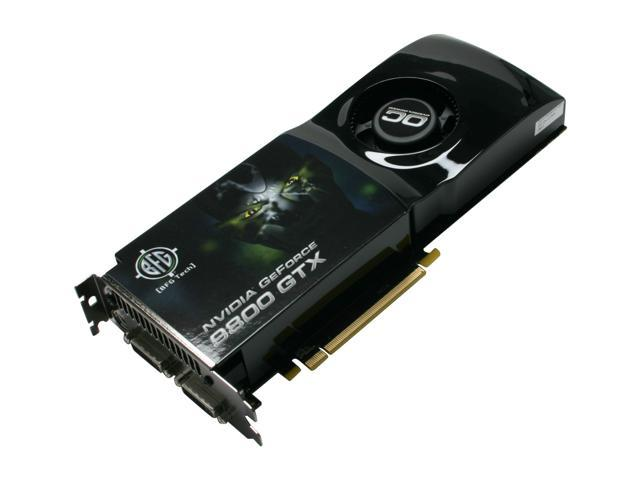 BFG Tech GeForce 9800 GTX DirectX 10 BFGE98512GTXOCE 512MB 256 Bit GDDR3 PCI Express 20