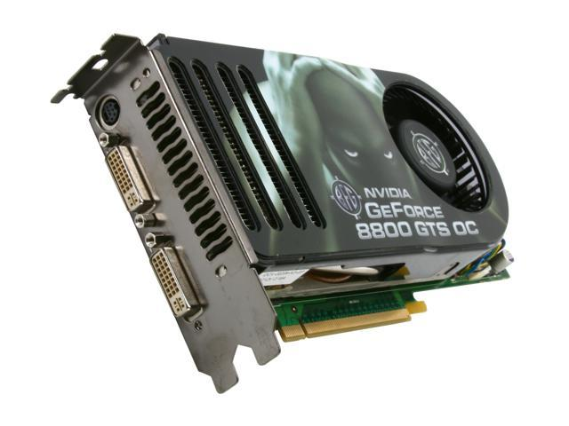 BFG Tech GeForce 8800 GTS DirectX 10 BFGS88320GTSOCE 320MB 320 Bit GDDR3 PCI Express X16