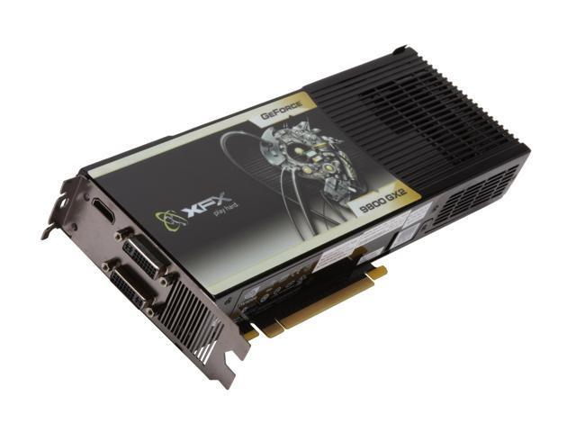 XFX GeForce 9800 GX2 DirectX 10 PVT98UZHDU 1GB 512 Bit GDDR3 PCI Express 20 X16