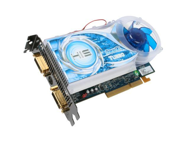 HIS Radeon HD 2600XT DirectX 10 H26XQT512ANP 512MB 128-Bit GDDR3 AGP 4X/8X HDCP Ready IceQ Turbo Video Card