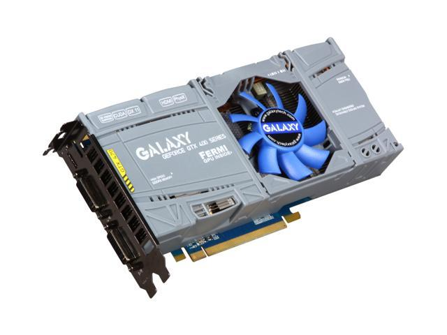 Galaxy GeForce GTX 470 (Fermi) DirectX 11 70XKH3HS3CUB 1280MB 320-Bit GDDR5 PCI Express 2.0 x16 HDCP Ready SLI Support Video Card