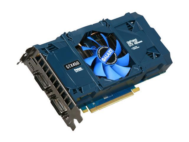 Galaxy 60XGH6HS3HML GeForce GTX 460 (Fermi) GC Version 1GB 256-bit GDDR5 PCI Express 2.0 x16 HDCP Ready SLI Support Video Card