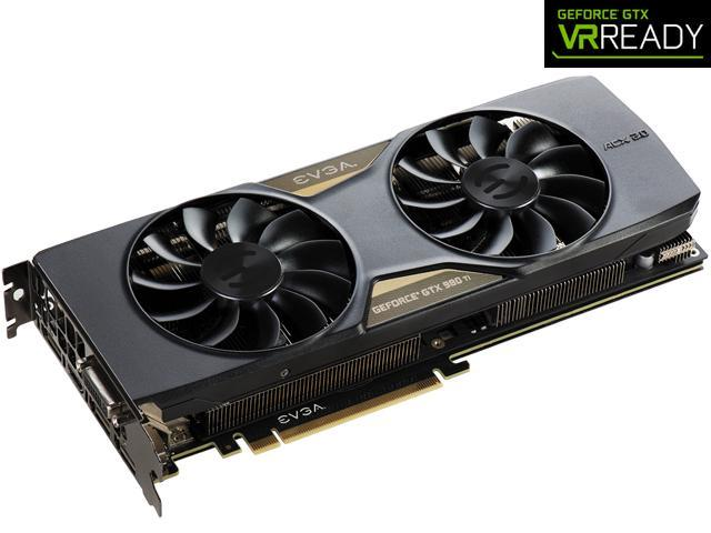 EVGA GeForce GTX 980 Ti 06G-P4-4996-KR 6GB FTW GAMING w/ACX 2 0+, Whisper  Silent Cooling w/ Free Installed Backplate Graphics Card - Newegg com