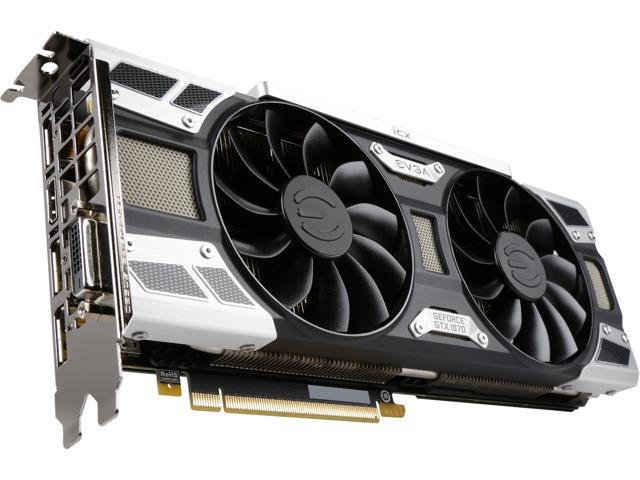 EVGA GeForce GTX 1070 SC2 GAMING iCX, 08G-P4-6573-KR, 8GB GDDR5, 9 Thermal Sensors, Asynchronous Fan Control, Thermal Display LED System, Optimized Airflow Fin Design, Die Cast/Form Fitted Baseplate
