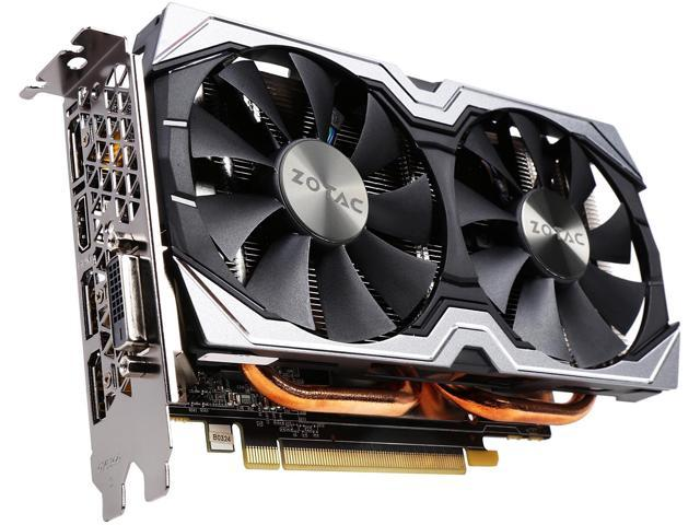ZOTAC GeForce GTX 1060 AMP!, ZT-P10600B-10M, 6GB GDDR5 Super Compact  Dual-Fan IceStorm Cooling FREEZE Fan Stop - Newegg com