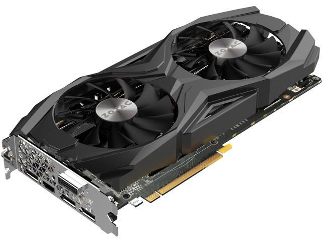 ZOTAC GeForce GTX 1070 Ti DirectX 12 ZT-P10710C-10P 8GB 256-Bit GDDR5 PCI Express 3.0 HDCP Ready SLI Support Video Card - AMP! Edition
