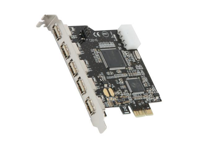 SYBA PCI-Express 5 Ports USB 2.0 Card Model SD-PEX20019