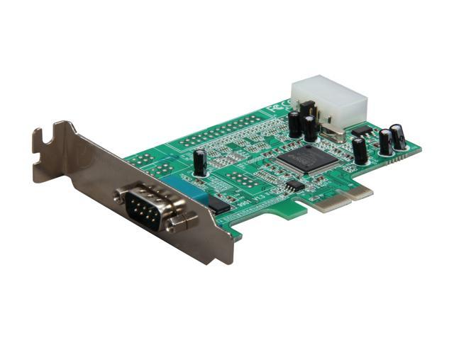StarTech Low Profile Native RS232 PCI Express Serial Card with 16550 ...