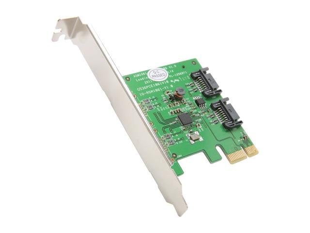 SYBA SY-PEX40039 2 Port SATA III PCI-e 2.0 x1 Card