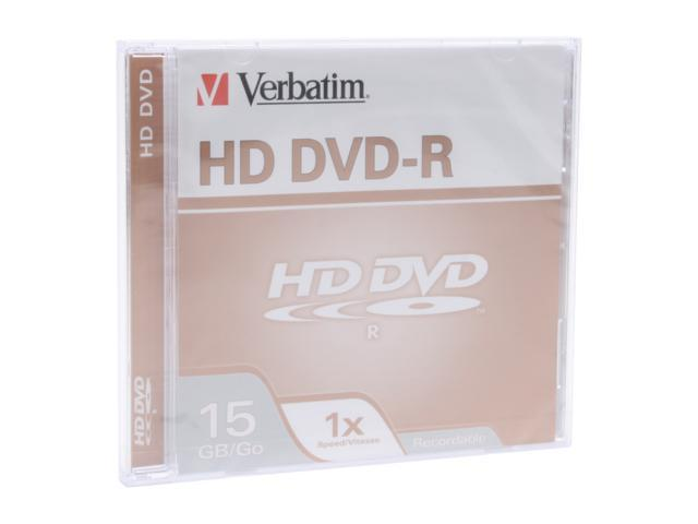 Verbatim 15GB 1X HD DVD-R Disc - Newegg com
