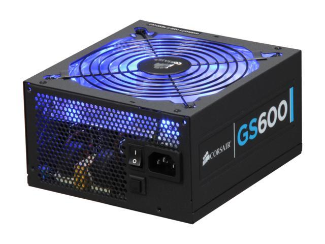 CORSAIR Gaming Series GS600 600W ATX12V v2.3 80 PLUS Certified Active PFC High Performance Power Supply