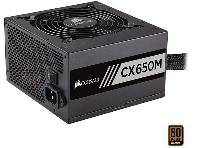 Corsair CX650M Power Supply - EPS12V - 120 V AC, 230 V AC Input Voltage -  3 3 V DC, 5 V DC, 12 V DC, 12 V DC, 5 V DC Output Voltage - 1 Fans -