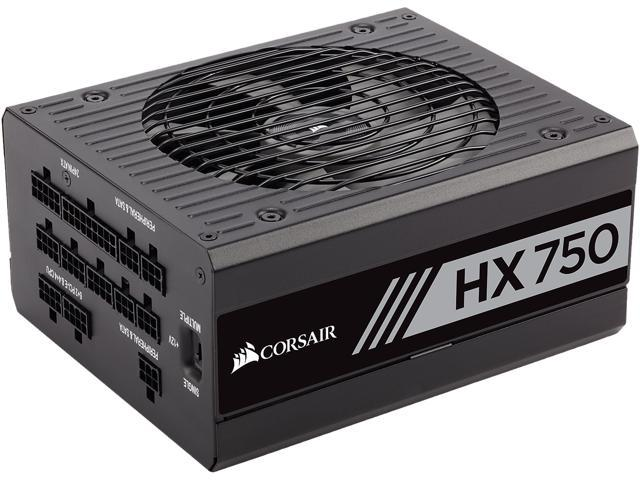 CORSAIR HX Series HX750 CP-9020137-NA 750W ATX12V v2.4 / EPS12V 2.92 80 PLUS PLATINUM Certified Full Modular Power Supply