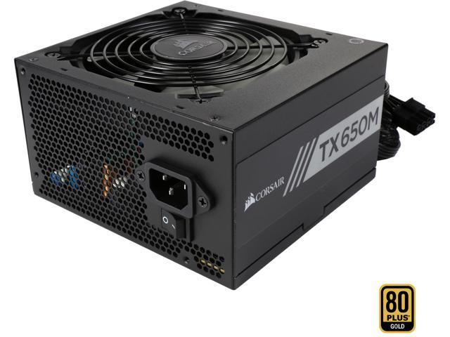 CORSAIR TX-M Series TX650M CP-9020132-NA 650W ATX12V v2.4 / EPS 2.92 80 PLUS GOLD Certified Semi-Modular Active PFC Power Supply
