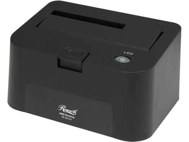 "Rosewill RX-DU101 2.5"" & 3.5"" Black SATA USB 2.0 Docking Station"