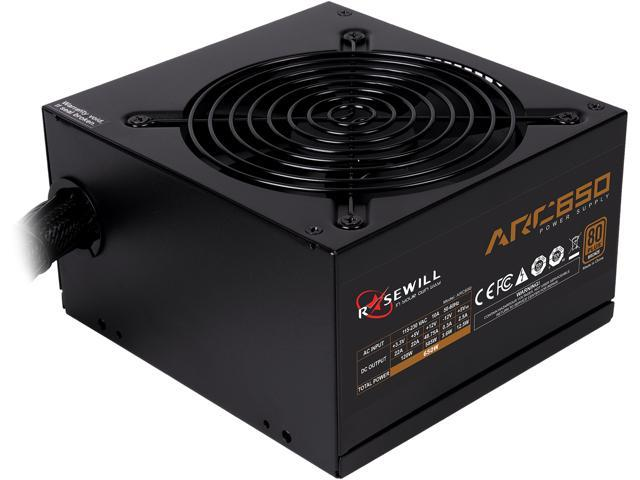 Rosewill Arc Series 650w Gaming Power Supply 80 Plus Bronze