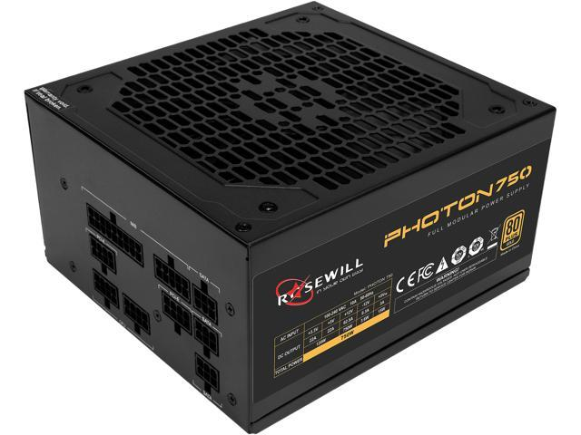 Rosewill PHOTON Series 750W Full Modular Gaming Power Supply, 80 PLUS Gold Certified, Single +12V Rail, Intel 4th Gen CPU Ready, SLI & Crossfire Ready - Photon-750