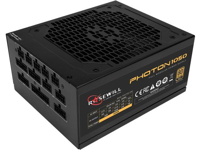 Rosewill PHOTON Series 1050W Full Modular Gaming Power Supply, 80 PLUS Gold, Single +12V Rail, Intel 4th Gen CPU Ready, SLI & Crossfire Ready - Photon-1050