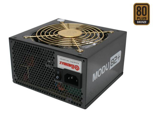 ENERMAX MODU82+ EMD625AWT 625W ATX12V  Ver.2.3 SLI Ready CrossFire Ready 80 PLUS BRONZE Certified Compatible w/Core i7 Modular Active PFC Power Supply