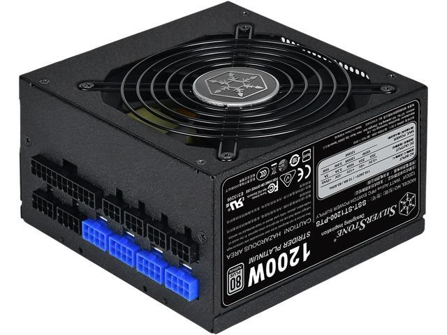 SilverStone Strider Platinum series SST ST1200 PTS 1200W ATX12V v2.4 80 PLUS PLATINUM Certified Full Modular Active PFC Power Supply