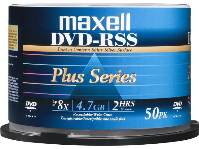 Maxell DVD-RSS Plus Series 4.7 GB 8X DVD-R Silver Printable 50 Packs Disc -  Model DVDRSSPLUS c51b710bc900a