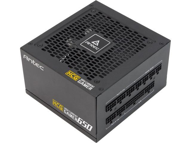 Antec High Current Gamer Series HCG650 Gold, 650W Fully Modular, Full-Bridge LLC and DC to DC Converter Design, Full Japanese Caps, Zero RPM Manager, Compacted Size 140mm, 10 Year Warranty