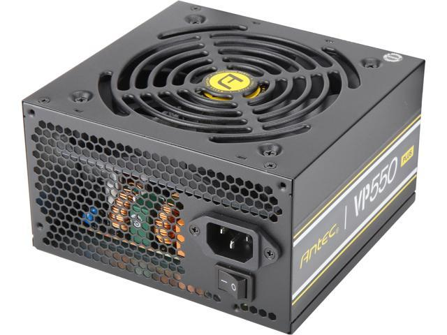 Antec Value Power Series VP550 Plus, 550W Non-Modular, 80 PLUS Certified, Thermal Manager, CircuitShield Protection, 120mm Silent Fan with 3-Year Warranty