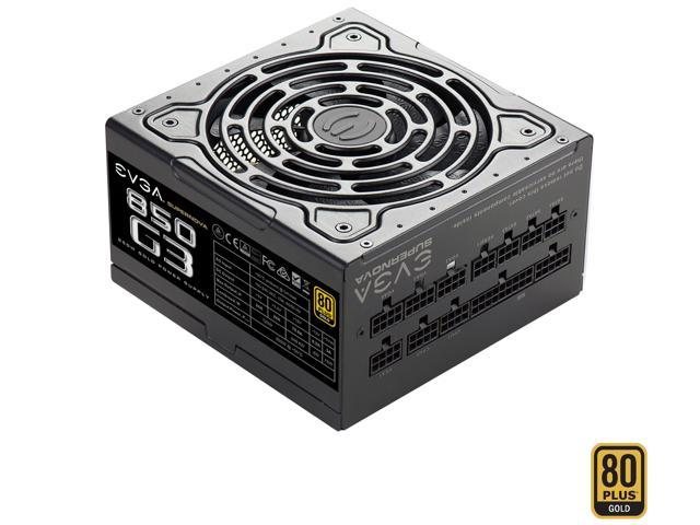 EVGA SuperNOVA 850 G3, 220-G3-0850-X1, 80+ GOLD, 850W Fully Modular, EVGA ECO Mode with New HDB Fan, Includes FREE Power On Self Tester, Compact 150mm Size, Power Supply