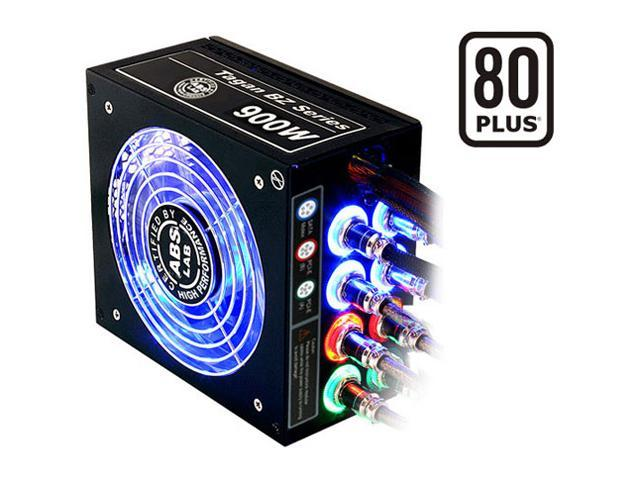 ABS Tagan BZ Series BZ900 900W ATX12V / EPS12V SLI Ready CrossFire Ready 80 PLUS Certified PipeRock type modular cable with colorful LED Active PFC Patent Piperock Modular Power Supply