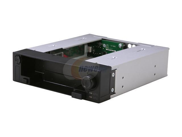 ICY DOCK 5.25 Inch Hot Swap Drive Caddy / Docking for 2.5 Inch & 3.5 Inch SATA Hard Drive/SSD - DuoSwap MB971SP-B